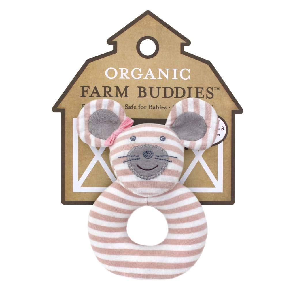 Organic Farm Buddies Rattle Ballerina Mouse Apple Park