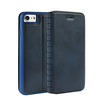 Cover custodia in similpelle vintage a strisce per Apple iPhone 6/6S