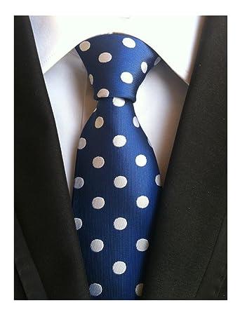 mohslee nuevo traje de lunares azul oscuro clásico corbatas ...
