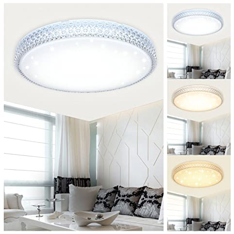 VINGO® 60W LED Deckenleuchte Farbwechsel Wandlampe Starlight ...