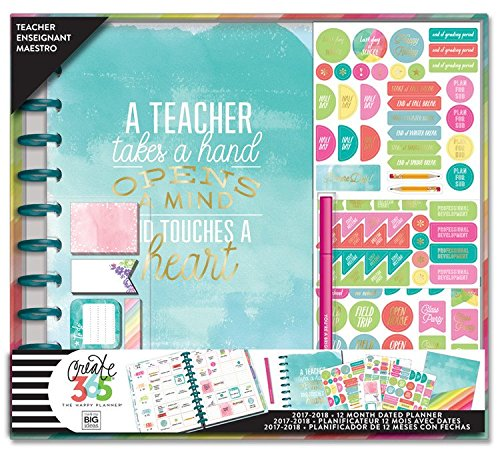 Create 365 The Happy Planner Box Kit, BIG Teacher Edition, (Teachers Big Plan Book)