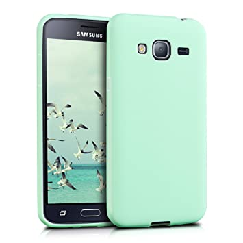 kwmobile Funda para Samsung Galaxy J3 (2016) DUOS - Carcasa para móvil en [TPU Silicona] - Protector [Trasero] en [Menta Mate]