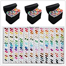 204 Color SET TOUCH LIIT 6 Alcohol Graphic Art Twin Tip General Pen Marker (204)