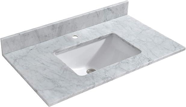 Woodbridge Cavt3722 1 Vanity Top With Under Mount Bowl 37 X22 Single Faucet Amazon Com