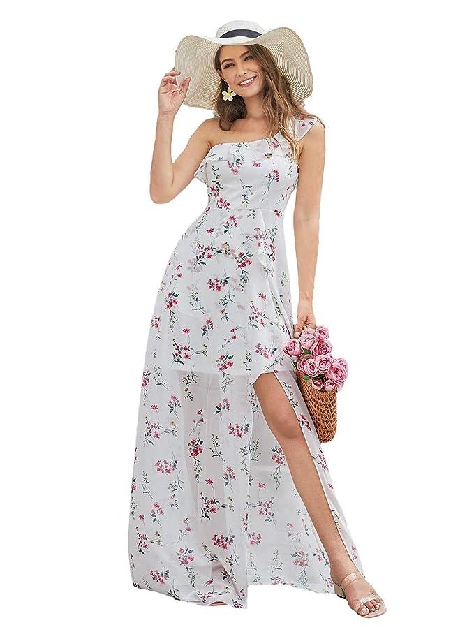 Ever-Pretty Floral Vestido Largo para Mujer Fiesta Noche Dama de Honor sin Mangas 05946