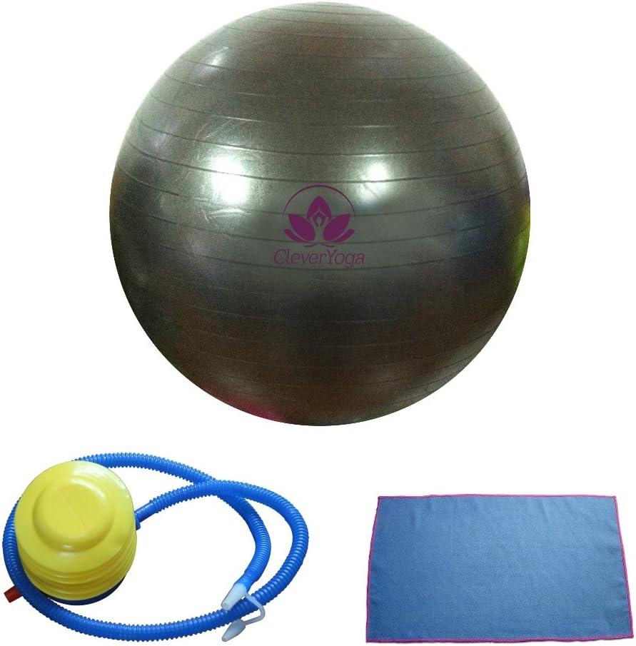antiestallido bal/ón de fitness de calidad para mujeres y hombres pelota de yoga con bomba de mano Pelota de ejercicio con forma de cacahuete Josietomy
