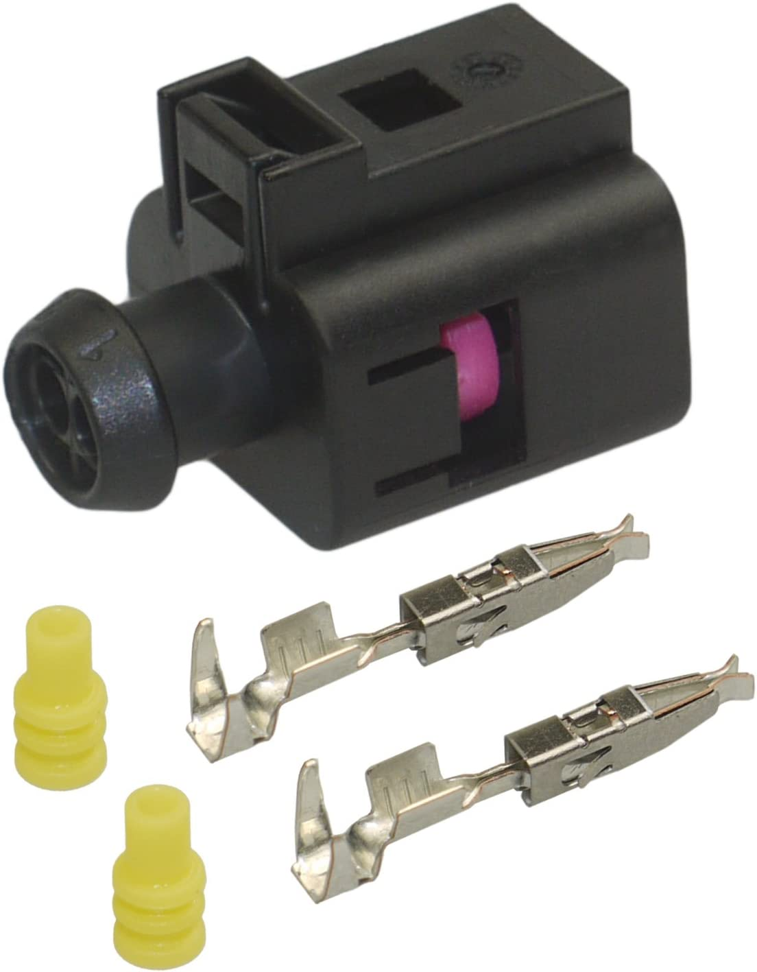 Stecker 2-polig Reparatursatz für VW 1J0973722 8D0973822 Steckverbindung Crimp
