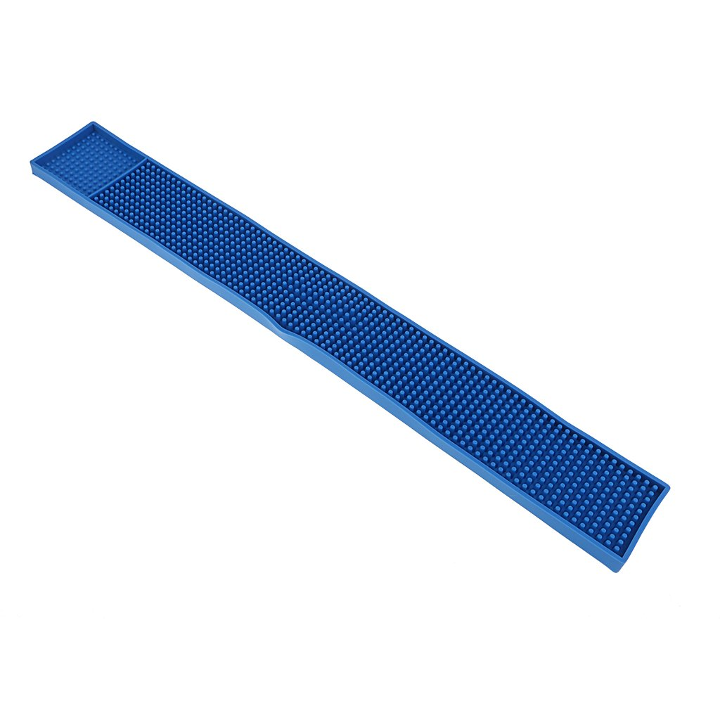 MagiDeal Rubber Beer Bar Service Spill Mat Water Proof PVC Mat Kitchen Tool 8x58cm Blue