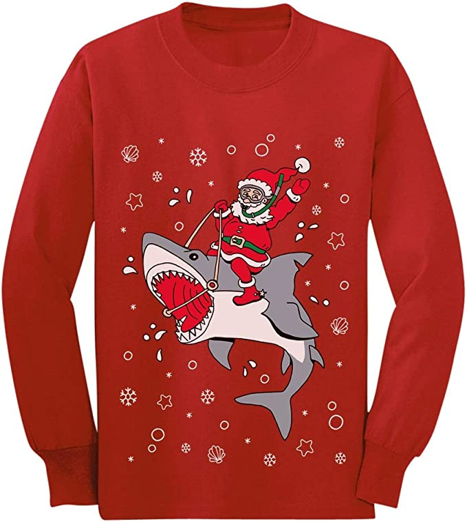 Awkward Styles Ugly Xmas Long Sleeve Shirt for Boys Girls Toddler Christmas Penguin Shirt