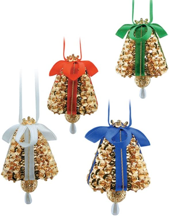 Pinflair Gold Liberty Bell Angels Christmas Craft Kit-Makes 3