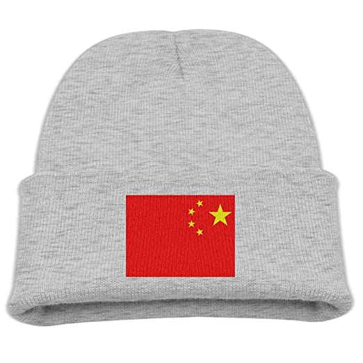 9e6e9cb2f Amazon.com: ZWZ Chinese National Flag Kid's Hats Winter Funny Soft ...