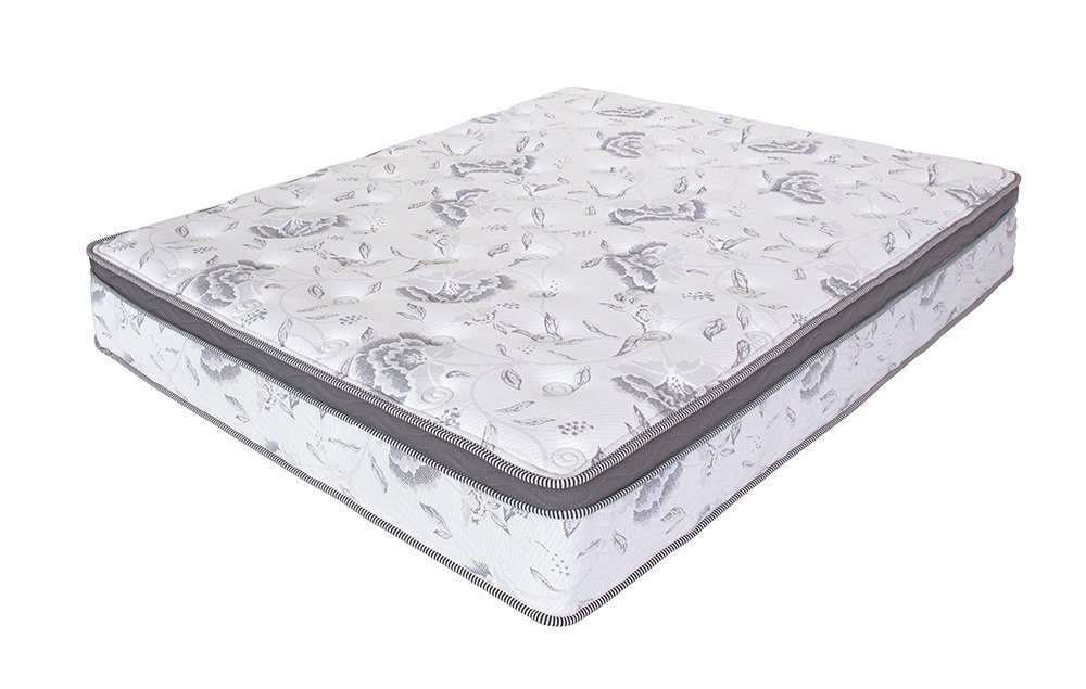 SLEEPLACE Pegasus Euro Caja Superior híbrida Primavera colchón, Espuma, Blanco, 12