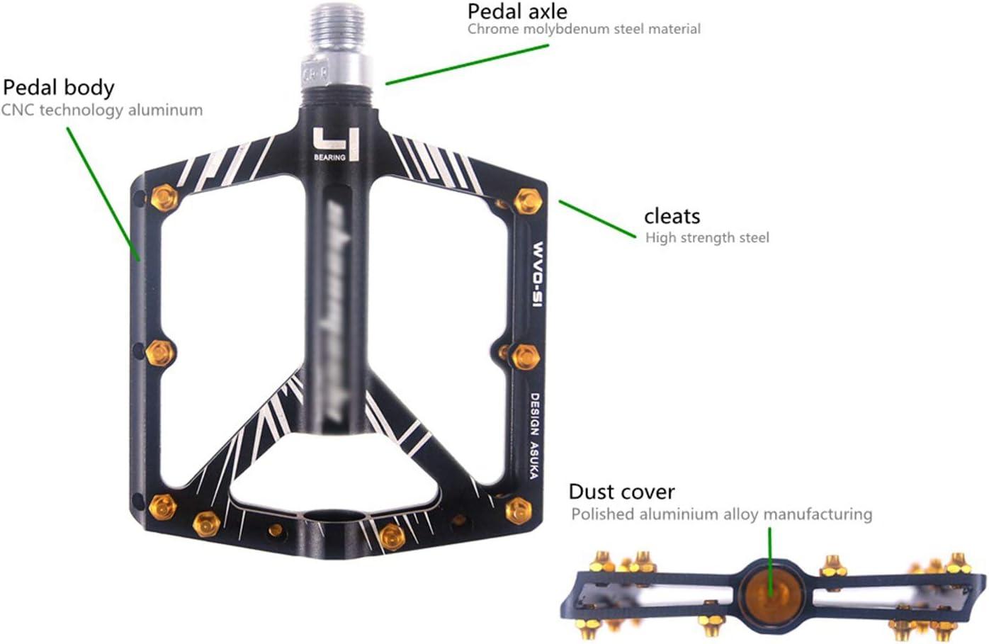SPTIDY Fahrrad Pedalen Mountainbike Rennrad Fahrradpedale rutschfest Trekking Pedale mit Achsendurchmesser 9//16 Zoll MTB Pedale mit Ultralight Aluminiumlegierung Platform und 4 Abgedichtete L/äger