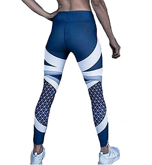 CREAMprice Women Sexy Yoga Pants Ladies Printed Hip High Fitness Leggings Gym Stretchy Workout Tights Sports