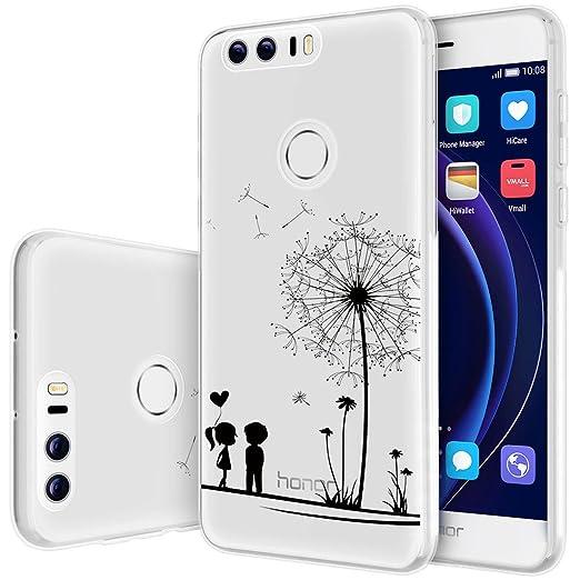 34 opinioni per Custodia Huawei Honor 8 , ivencase Cover Silicone Trasparente TPU Flessibile
