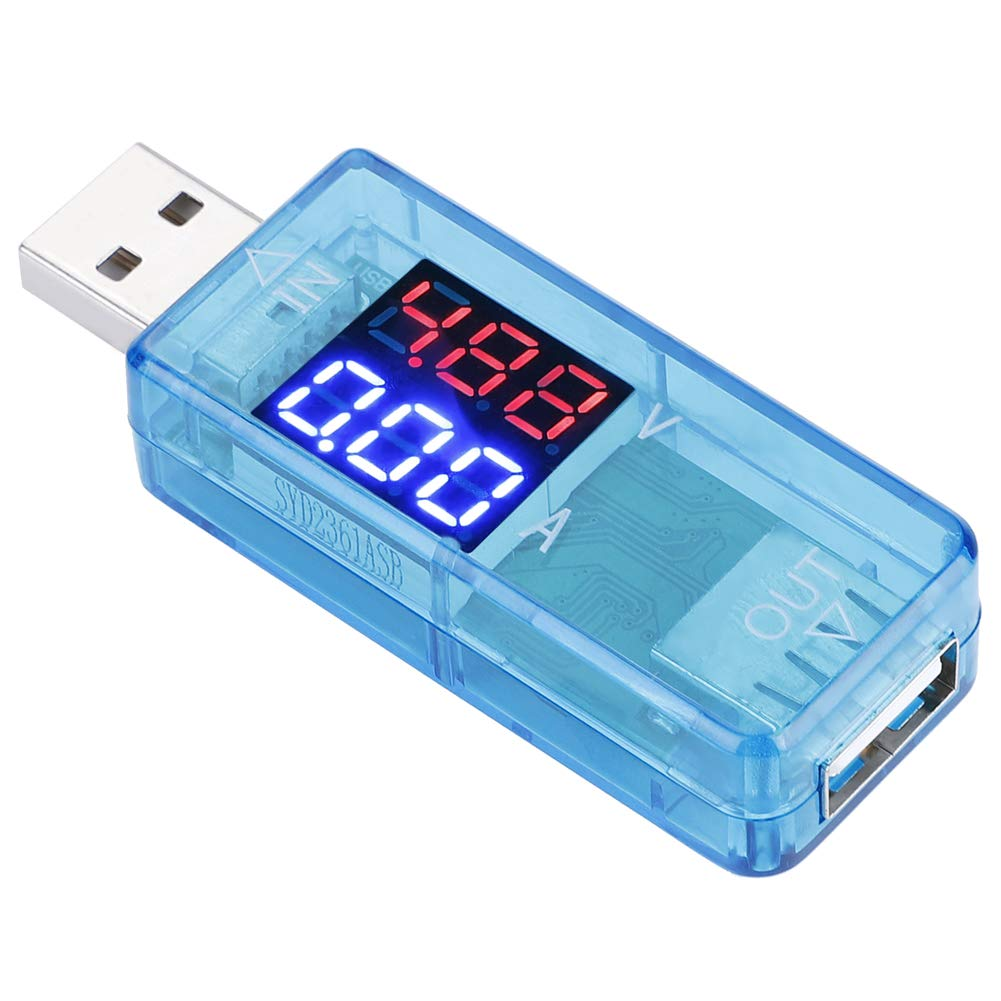 Blue Color LCD USB Tester Voltmeter High Presision Current Meter for Phones for Power Bank for Electronic Products