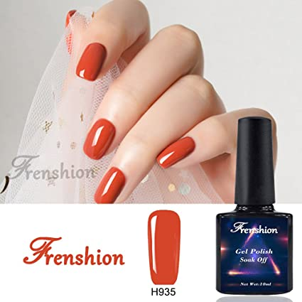 Frenshion 10ML Gel Nail Polish Semi Permanent Empapa del UV LED Kit de manicura para esmalte