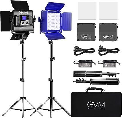 Comprar GVM - Lámpara LED RGB para video, iluminación de estudio de YouTube Studio (2 unidades)