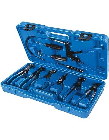 Silverline 984748 Juego de Alicates para Abrazaderas de Mangueras, Azul 18-54 mm