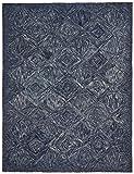 Rivet Motion Patterned Wool Area Rug, 8' x 10'6, Denim Blue