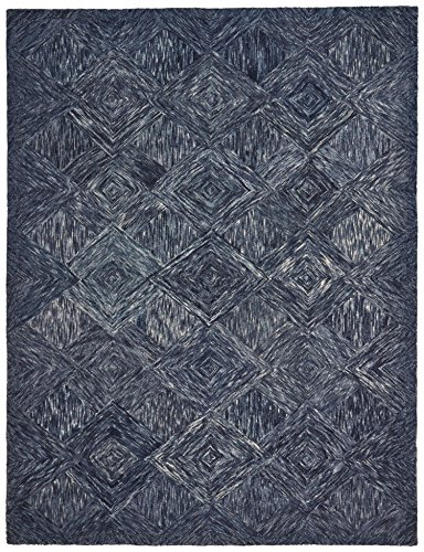Rivet Motion Modern Patterned Wool Area Rug, 5' x 7' 6