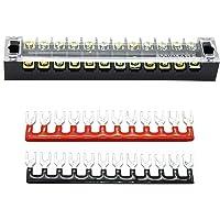 Dubbla rader 12 Positioner 600V 15A Barrier Screw Copper Terminal Block Bar 6P Fork Typ Terminal Strip 400V