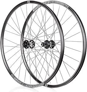 Juego Ruedas Bicicleta CX 700C Ruedas Bicicleta Carretera Llanta Doble Pared 622mm Ultraligero Freno C/V 8-11S Cassette Hub Rodamiento Sellado QR (Color : Gray): Amazon.es: Deportes y aire libre