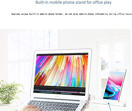 30x31x3cm 1-10 2 Style Options Portable Laptop Stand 5 Colors Can Be Used As A Bookshelf Plastic 10-17 Inch Notebook Color : White, Size : Basic