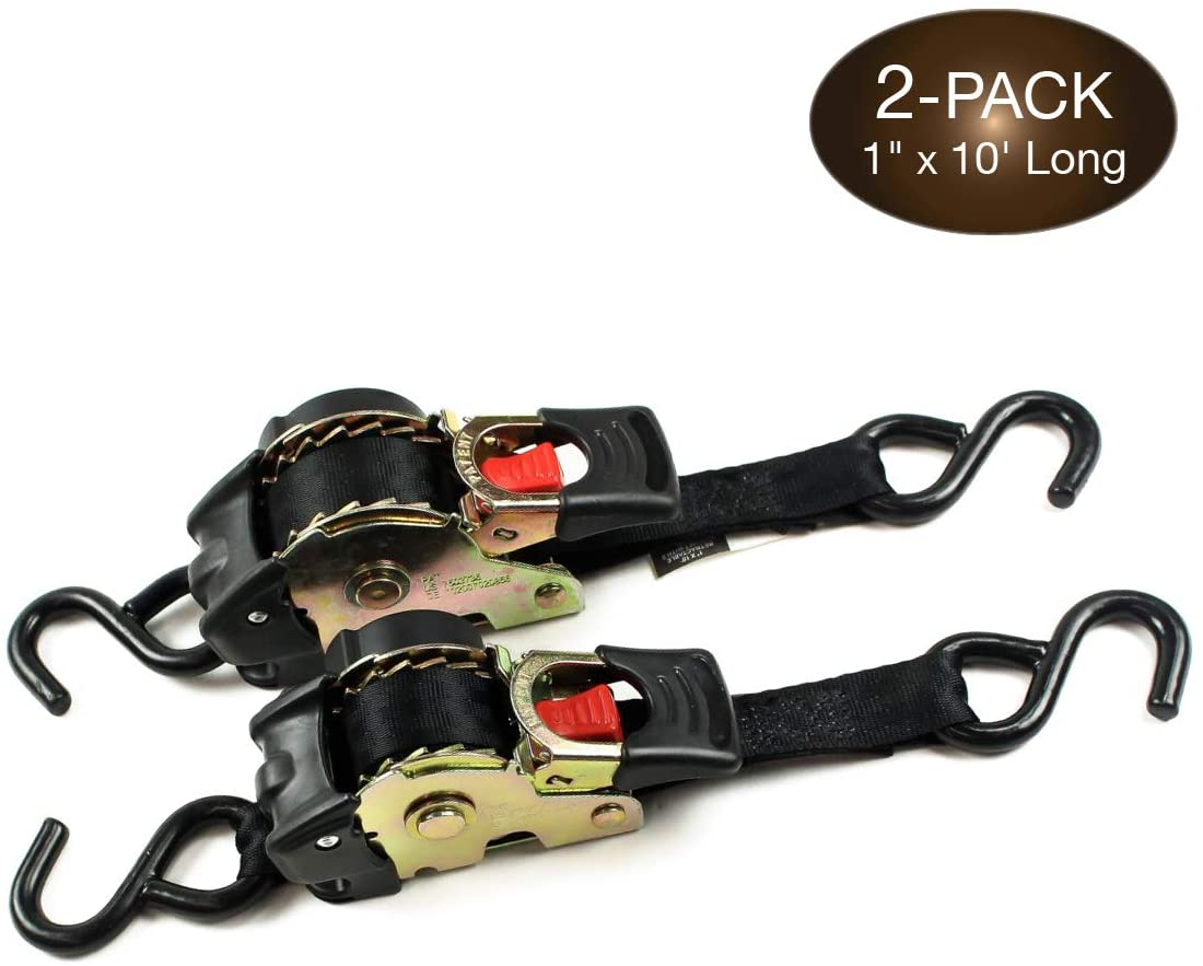 RV Tie-Down Straps Lashing Straps 1 Pack Hook and D-Ring Included RecPro RV Furniture Tie-Down Straps 130
