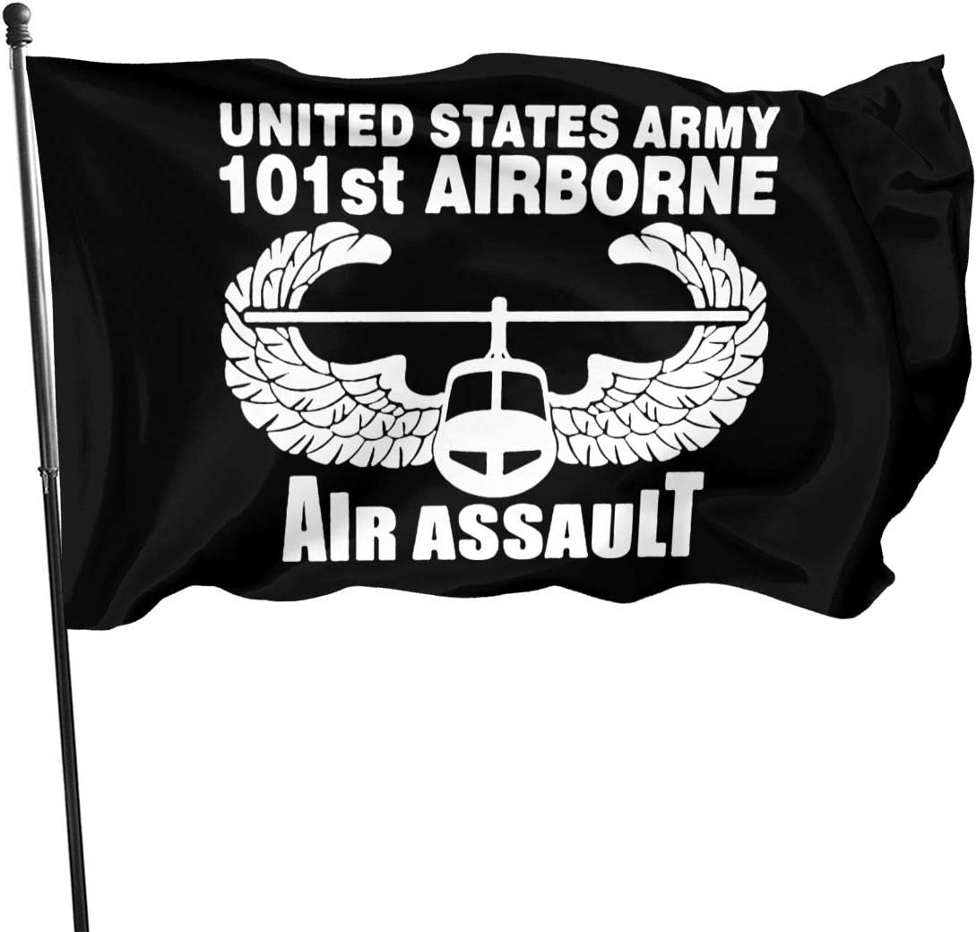 HUXINGXINGfaqi Us Army 101st Airborne Air Assault Flag 3' X 5' Ft Outdoor Flags Banner Breeze Flag
