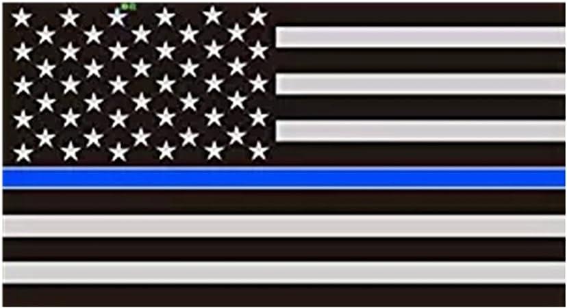 Super gran 19, 6 x 36inches, finefun delgada línea azul bandera de Estados Unidos adhesivo, . La bandera americana adhesivo, color negro, gris y azul para oficina, coches: Amazon.es: Jardín