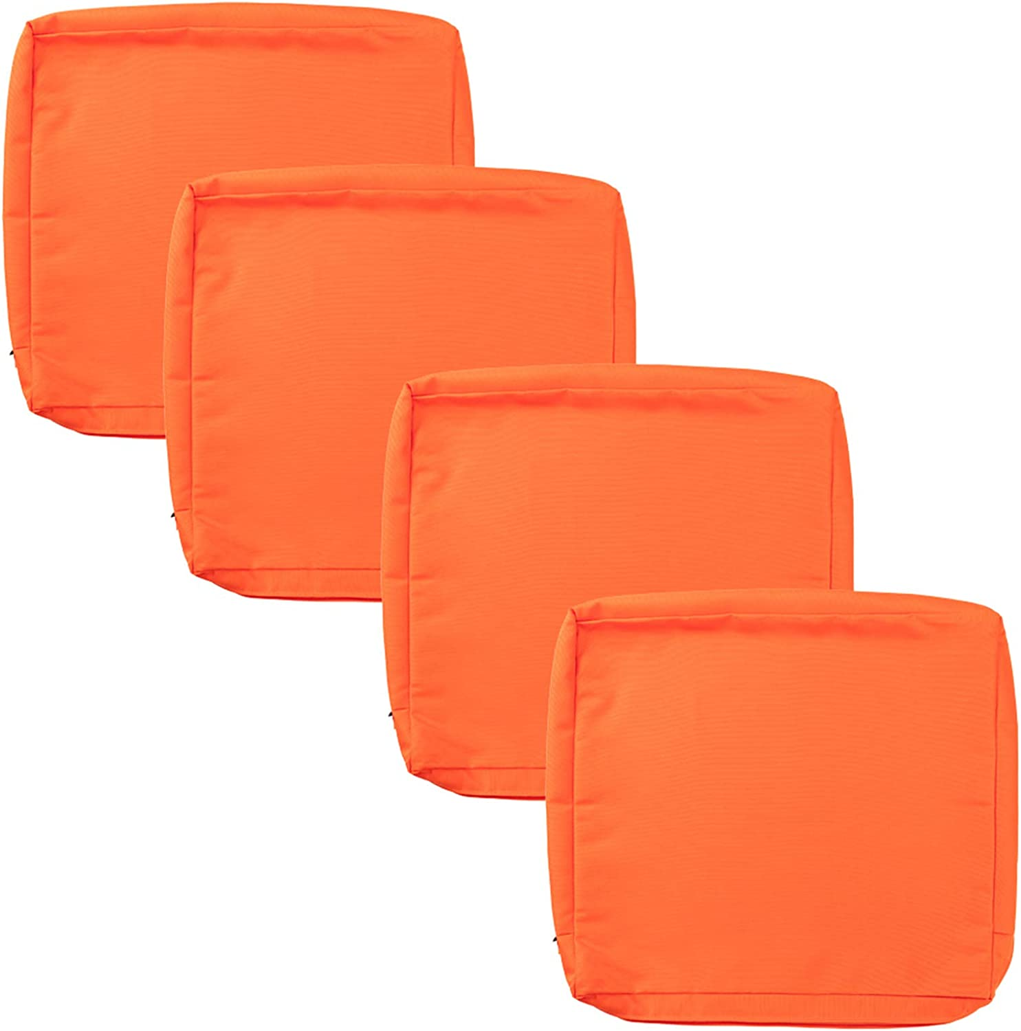 """Patio Chair Cushion Covers 4 Pack, Outdoor Seat Cushion Cover 24""""X22""""X4"""", Replacement Covers Only"""