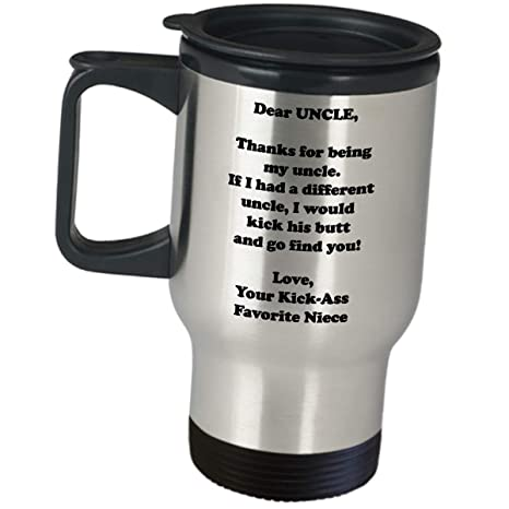 Amazoncom Dear Uncle Funny Thank You Gifts From Niece Insulated