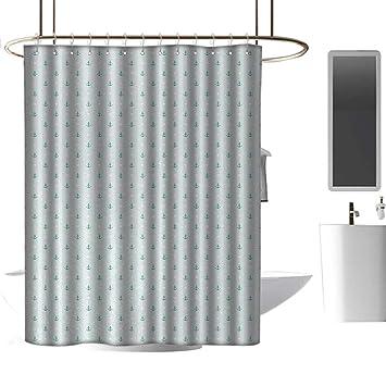 Amazon.com: Cortinas de ducha para baño con anclaje azul ...