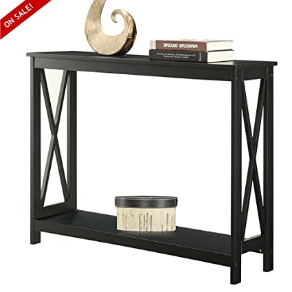 Amazon Com Hallway Console Table Narrow Black Accent Foyer Home