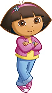 RoomMates RMK1400GM Dora the Explorer Peel & Stick Giant Wall Decal