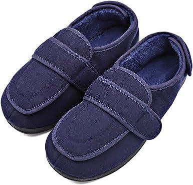 MEJORMEN Mens Diabetic Slippers Extra