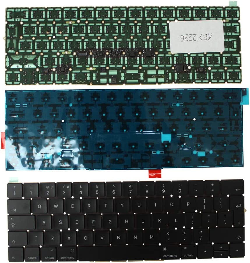 Apple MacBook Pro A1707 Keyboards4Laptops UK Layout Backlit Black Laptop Keyboard Compatible with Apple MacBook Pro 15 Inch Touch Late 2016 Apple MacBook Pro 15 Inch Touch Mid 2017