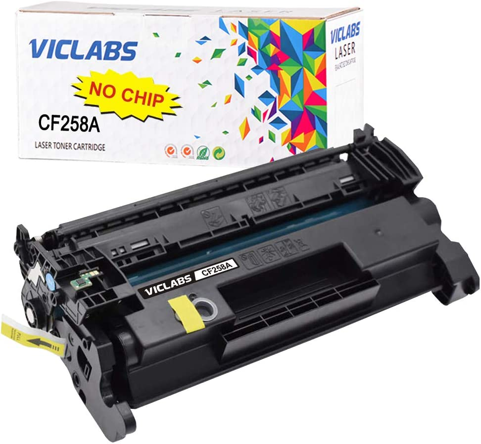 VicLabs Compatible CF258A 258X Toner Cartridge Replacement for HP 58A CF258A 58X CF258X Toner (NO CHIP) for HP Laserjet Pro MFP M428fdw M428fdn M428dw M404dn M404dw M404n M304 Printer (Black,1-Pack)