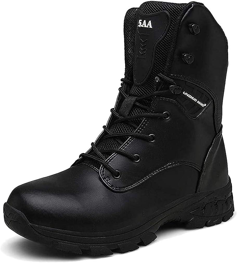 WOJIAO Botas tácticas Impermeables para el Entrenamiento General de cercanías Four Seasons para Hombres Camuflaje Gris Oscuro de Color marrón Gris Zapatillas de Deporte al Aire Libre: Amazon.es: Zapatos y complementos