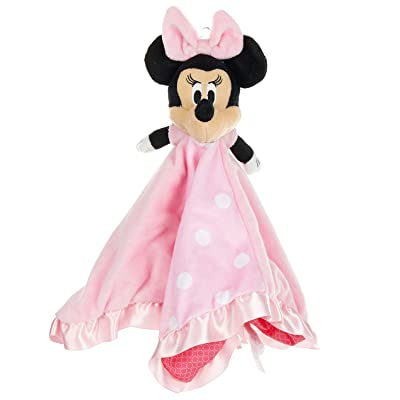 Disney Baby Minnie Mouse Plush Stuffed Animal Snuggler Blanket - Pink: Baby