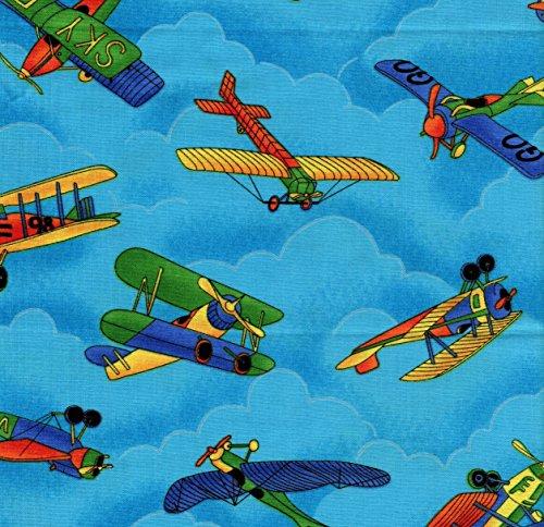 Air Show Airplanes in Flight Cotton Fat Quarter (Air Piper Plane)