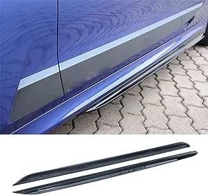 IKON MOTORSPORTS Side Skirts Compatible With 2019-2020 BMW G20 3 Series M-Sport Bumper M-Performance Rocker Panel Side Skirt Extension Lip Spoiler 2PC Set ABS Gloss Black