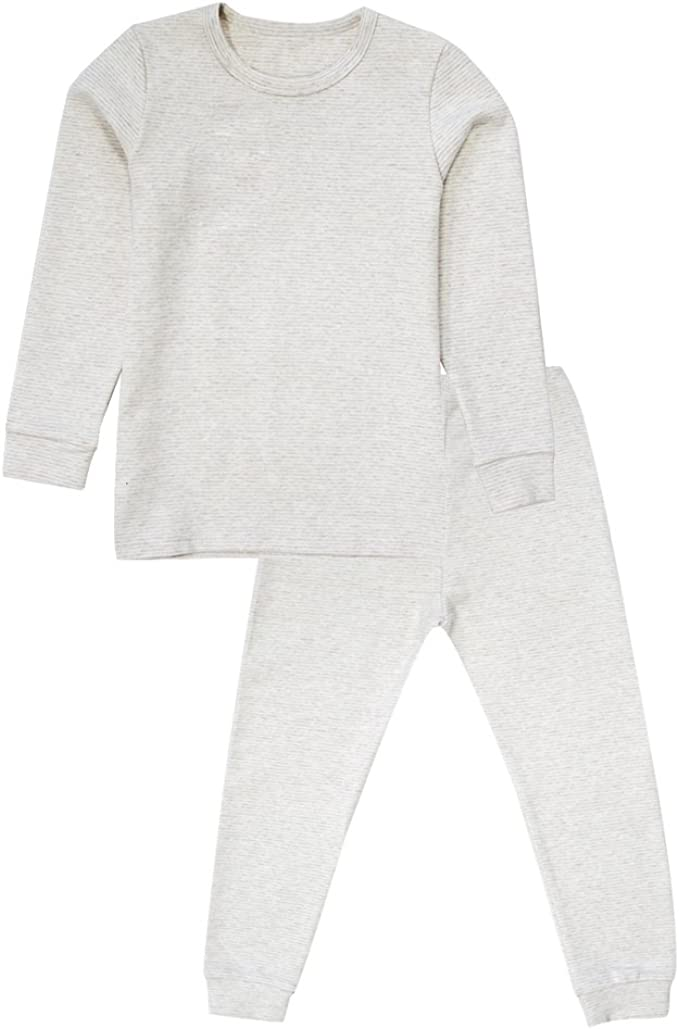 Kid Solid T-Shirt 3T Girl Jammies Organic Cotton Little Girl 2 Pcs Pajamas Set