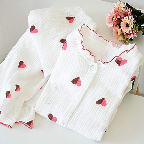 HIUGHJ Pijamas Kawaii muñeca Collar Pijamas Mujeres 100 ...