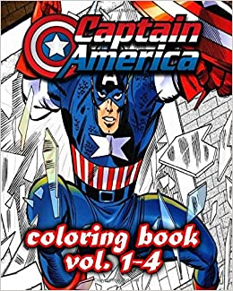 Amazon.com: Captain America Coloring Books : Coloring Book VoL.1-4 ...