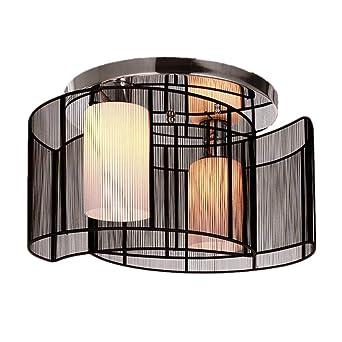 Maxmer Lustre Plafonnier Lumière Design Moderne Eclairage De Plafond Tissu Noir Finition Chrome Luminaire Intérieur Chambre à Coucher Salon Hôtel