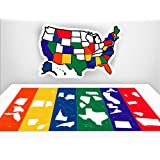 Amazoncom USA Sticker Map X For RV Camper Motor Home - Us states traveled map