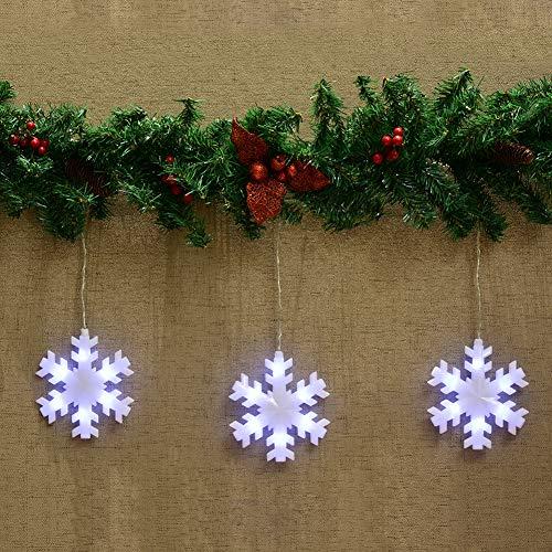 Abba Patio Snowflake String Lights, 59 i...