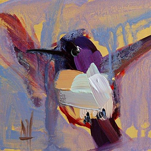 Hummingbird no. 104 art print by Angela Moulton 5 x 5 inch